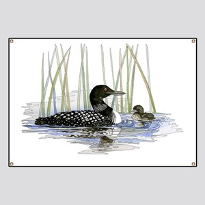 Loon and baby Banner
