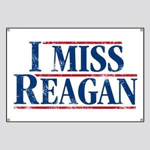 I Miss Reagan, distressed look Banner