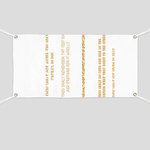 Math - 10 Commandments Banner