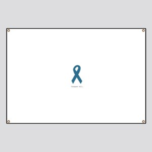 Conquer All. Teal Ribbon Banner