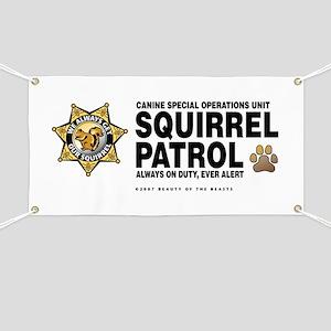 Squirrel Patrol Banner