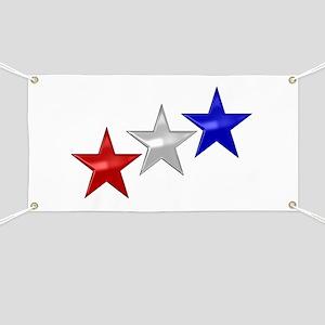 Three Shiny Stars Banner