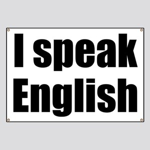 I speak English Banner
