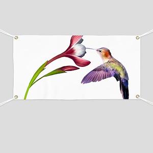 Hummingbird in flight Banner