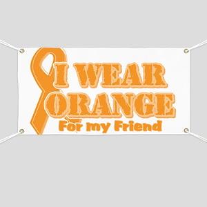I wear orange friend Banner