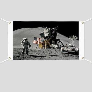 Apollo Moon Flag Salute USA Banner