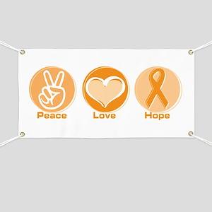 Peace Love Orange Hope Banner