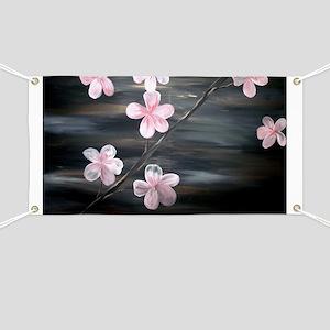 Cherry Blossom Night Shadow Banner
