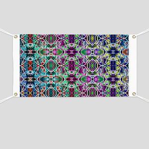 Rainbow Fractal Art Banner