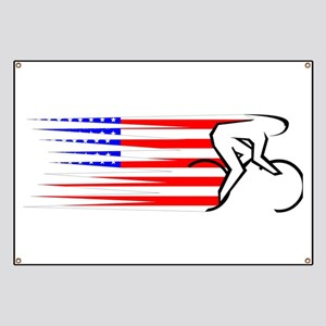Track Cycling - USA Banner