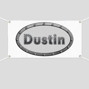 Dustin Metal Oval Banner