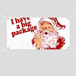 Santa Has a Big Package Banner