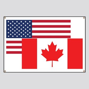 American And Canadian Flag Banner