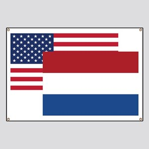 American And Dutch Flag Banner