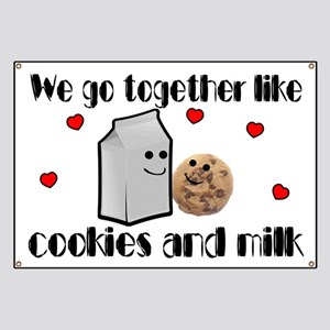 Cookies And Milk Banner