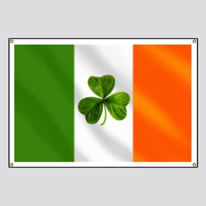 Irish Shamrock Flag Banner