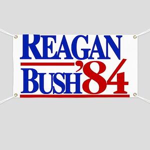Reagan Bush 1984 Banner
