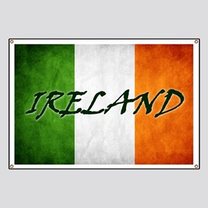 """IRELAND"" on Irish Flag Banner"