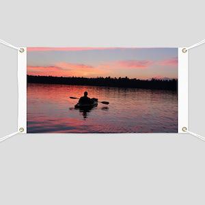 Kayaking at Sunset Banner