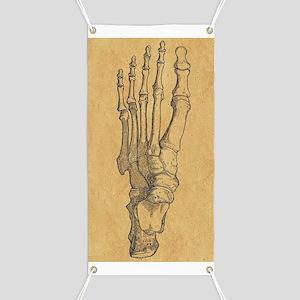 Vintage Foot Bones Banner