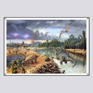 Early Cretaceous life, artwork Banner