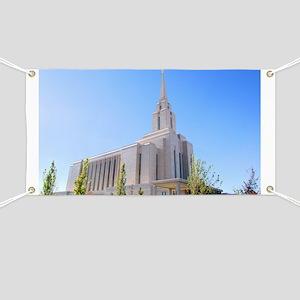 LDS Oquirrh Mountain Temple Banner