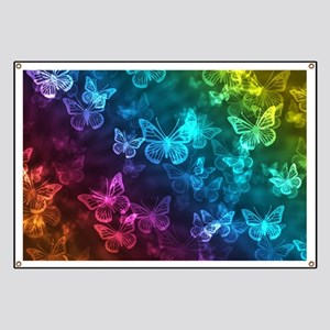 butterfly rainbow Banner