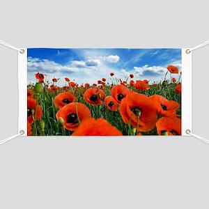 Poppy Flowers Field Banner