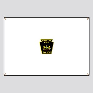 Fire police badge Banner