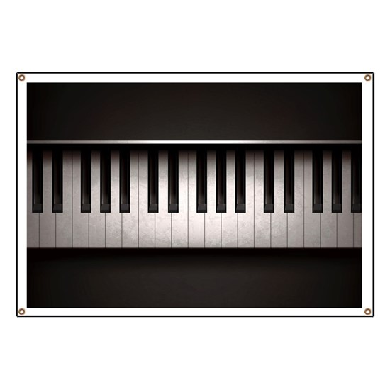 Piano Banner By Fuzzychair Cafepress