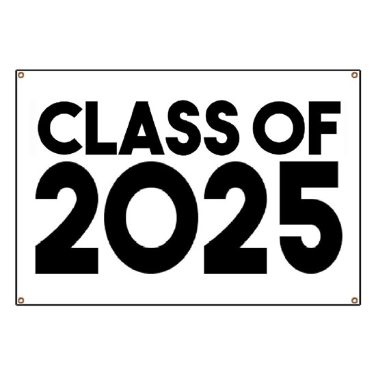 Class of 2025 Banner by MartStore - CafePress