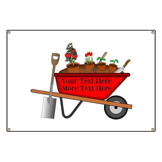 Personalized Red Wheelbarrow