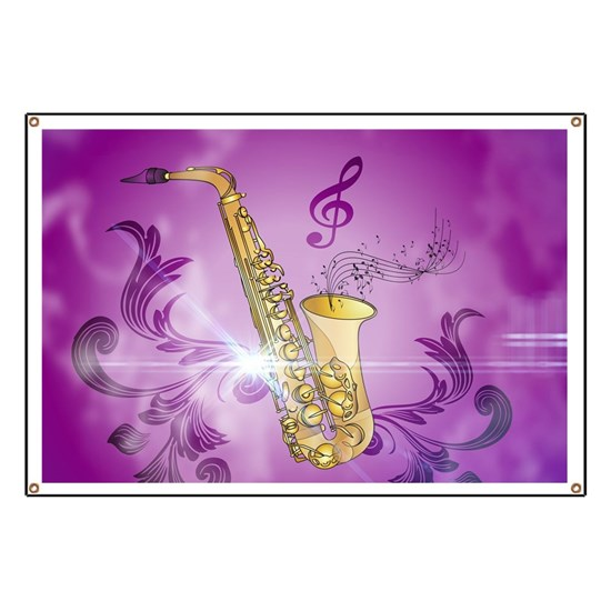 Saxophone with key notes