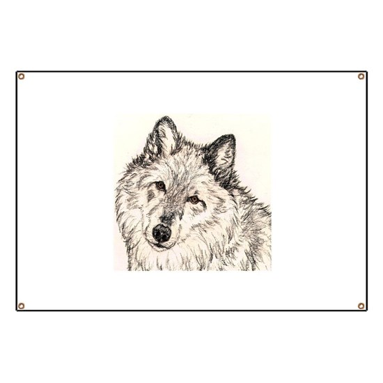 Alpha Female Wolf Banner