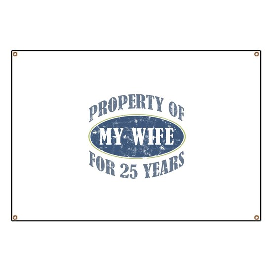 1f6dbd65 Funny 25th Anniversary Banner by ThePixelGarden - CafePress