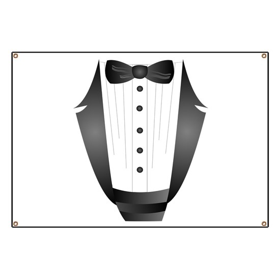 85357f016ab12 bachelor party groom tuxedo Banner by focusedonyou - CafePress