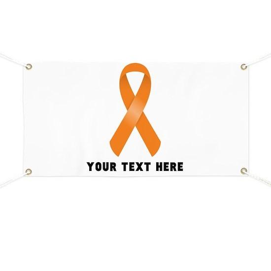 78c8793a9b4 Orange Awareness Ribbon Customized Banner by nadil1 - CafePress