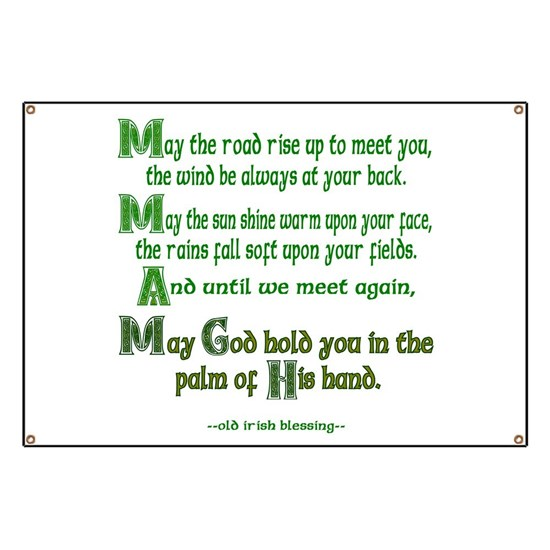 Irish Blessing May the Road Banner
