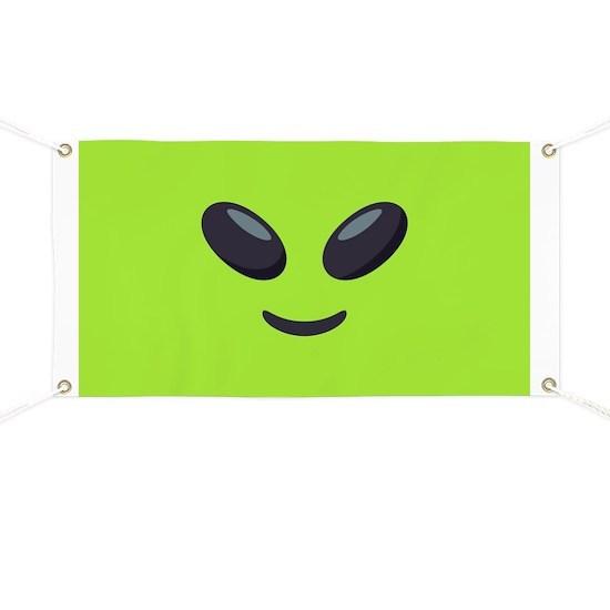 Alien Emoji Face Banner