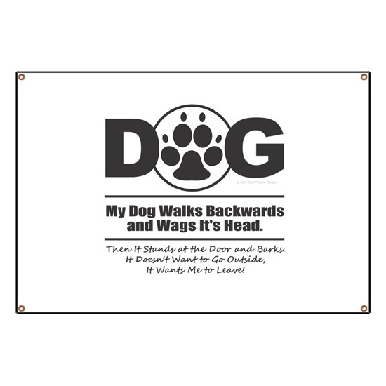 Daog Walks Backward