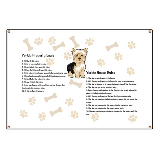 Yorkie House Rules Banner
