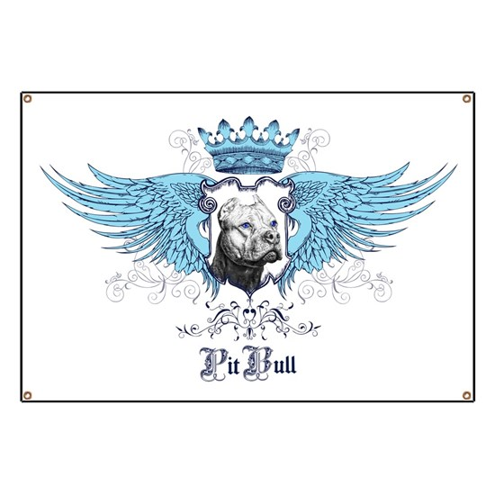 Pit Bull Dog Crest, Crown  Wings