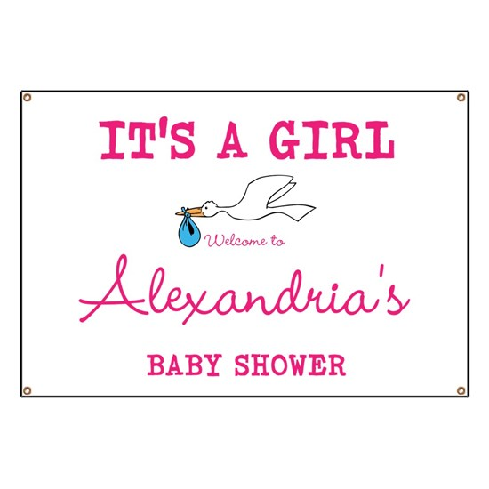 0614ec752 Its A Girl Banner by DesignsByHarmony - CafePress