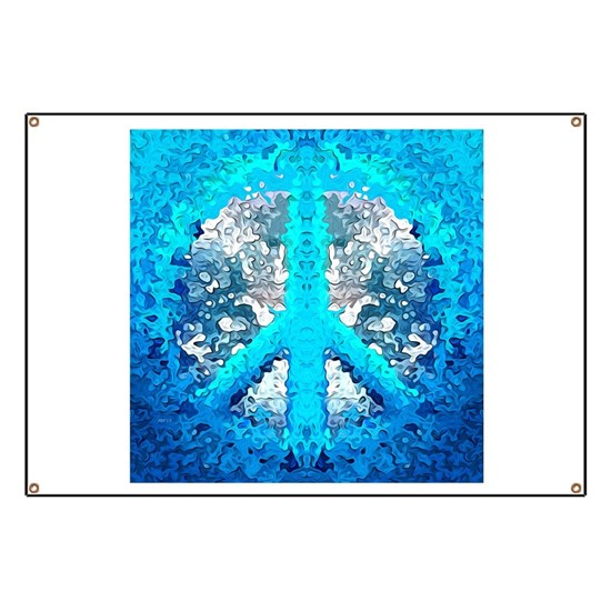 Abstract Blue Peace Sign