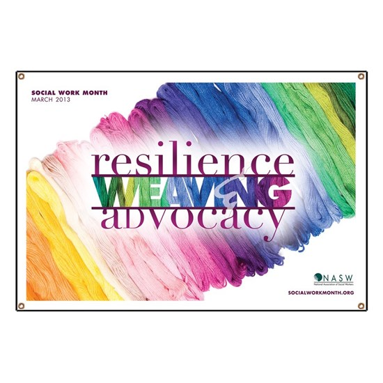 2013 Social Work Month Poster Image
