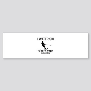 I Water Ski Sticker (Bumper 10 pk)