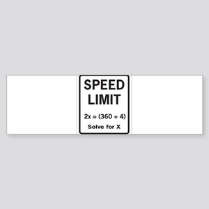 Speed limit math Bumper Sticker