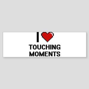 I love Touching Moments digital des Bumper Sticker