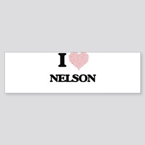I Love Nelson (Heart Made from Love Bumper Sticker