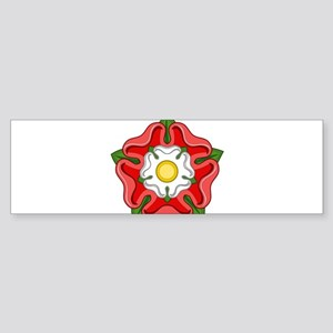 Tudor Rose Bumper Sticker